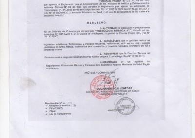 Resolución Sanitaria cosmetología - 1431 - 20-4-12